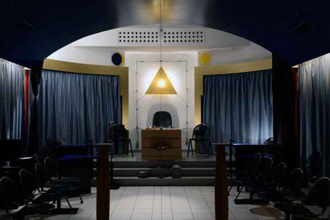 Vue intérieure du Temple Maçonnique d'Épinal