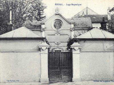 Le temple d'Épinal tel qu'à l'origine